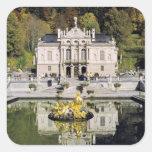 Alemania, Baviera, castillo de Linderhof. Pegatinas Cuadradases
