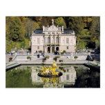 Alemania, Baviera, castillo de Linderhof. Postal