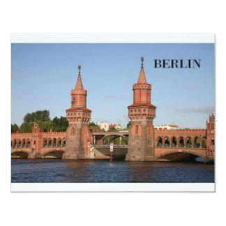 Alemania Berlín Oberbaumbrucke (St.K.) Invitación 10,8 X 13,9 Cm