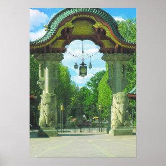 Alemania, Berlín, parque zoológico, entrada del el Poster