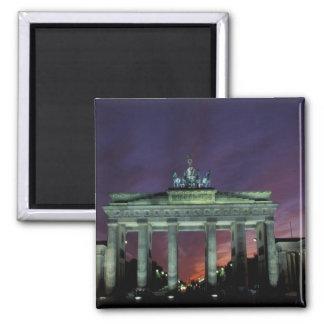 Alemania, Berlín. Puerta de Brandeburgo en la noch Iman Para Frigorífico