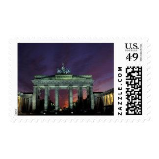 Alemania, Berlín. Puerta de Brandeburgo en la Sellos Postales