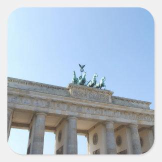 Alemania, Berlín. Puerta de Brandeburgo Pegatina Cuadrada