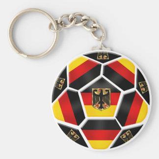 Alemania - bola de Alemania aficionados al fútbol  Llavero Redondo Tipo Pin