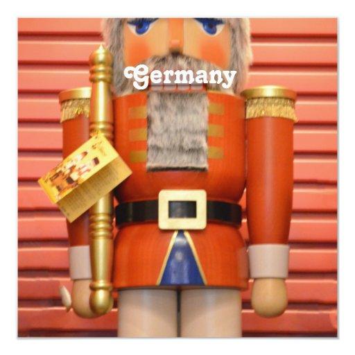 Alemania - cascanueces invitación 13,3 cm x 13,3cm