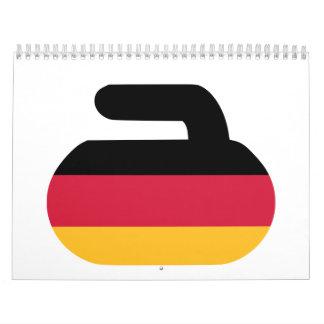 Alemania de piedra que se encrespa calendario