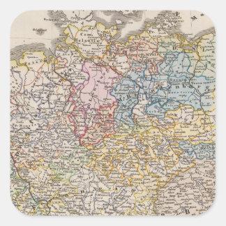 Alemania debajo del Hohenstaufen, y hasta 1275 Pegatina Cuadrada