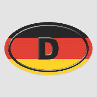 Alemania - Deutschland - europeo Calcomanías Ovales