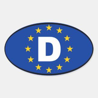 Alemania - Deutschland - europeo Colcomanias Oval Personalizadas