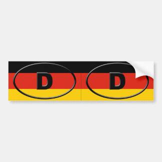 Alemania - Deutschland - óvalo europeo Etiqueta De Parachoque