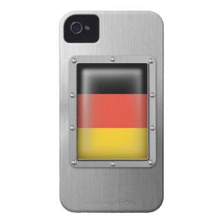 Alemania en acero inoxidable Case-Mate iPhone 4 carcasas