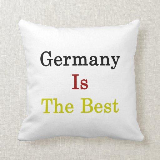 Alemania es el mejor almohada