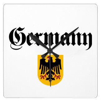 Alemania + Escudo Reloj Cuadrado