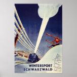 Alemania - esquí en el bosque negro posters