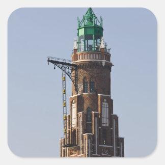 Alemania, estado de Bremen, Bremerhaven. Puerto Pegatinas Cuadradas