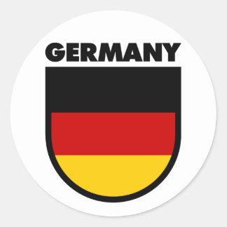 Alemania Etiqueta Redonda
