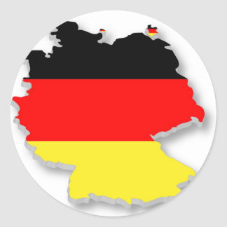 Alemania Fla en la forma de Alemania Pegatinas Redondas