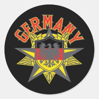 Alemania grande e intrépida pegatinas redondas