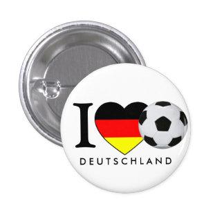 """Alemania"" i fútbol love Alemania Anstecker Pin Redondo De 1 Pulgada"