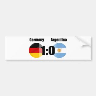 Alemania la 1 Argentina 0 mundos del fútbol Pegatina Para Auto