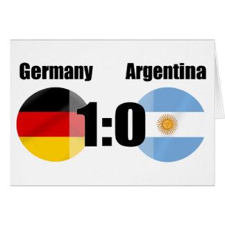 Alemania la 1 Argentina 0 mundos del fútbol defien Tarjetas