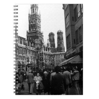 Alemania Munich Frauenkirche Frauenplatz 1970 Libreta Espiral