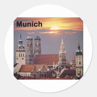 Alemania Munich (St.K) Pegatina Redonda