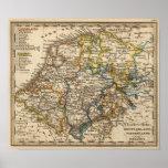 Alemania, Países Bajos, y Bélgica Póster