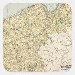 Alemania Pegatina Cuadrada