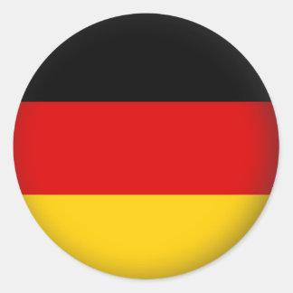 Alemania redonda pegatina redonda