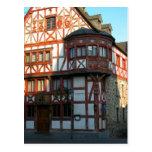 Alemania, Renania, Rhens, casas halftimbered 8 Tarjeta Postal