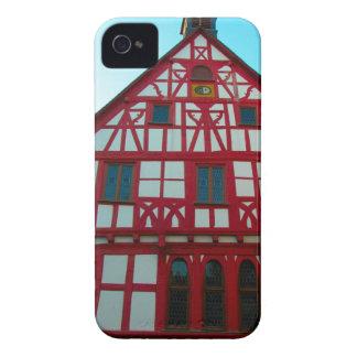 Alemania, Renania, Rhens, mitad enmaderó las casas iPhone 4 Cárcasas