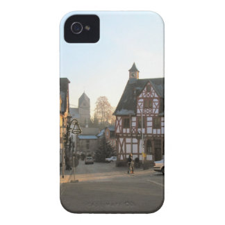 Alemania, Renania, Rhens, mitad enmaderó las casas iPhone 4 Case-Mate Carcasa