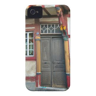 Alemania, Renania, Rhens, mitad enmaderó las casas iPhone 4 Carcasas