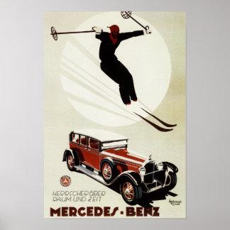 Alemania - salto del esquiador póster