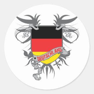 Alemania se fue volando pegatina redonda