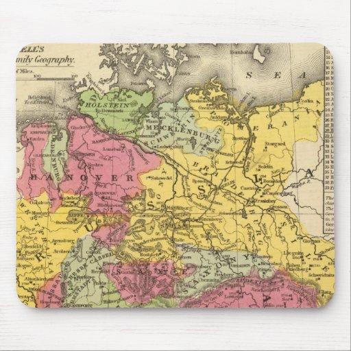 Alemania, Suiza, e Italia septentrional Mousepad