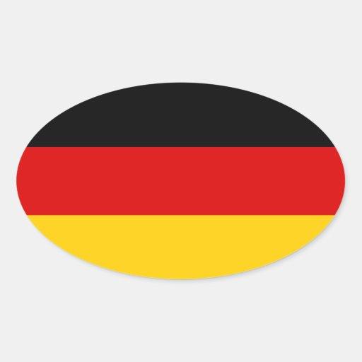 Alemania tricolora colcomanias oval personalizadas