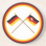 Alemania y banderas cruzadas Baja Sajonia Posavasos Manualidades
