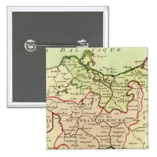Alemania y Polonia Pin Cuadrado