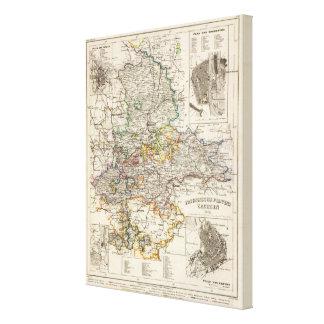 Alemania y Prusia Impresiones En Lona