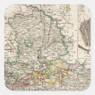 Alemania y Prusia Calcomania Cuadradas