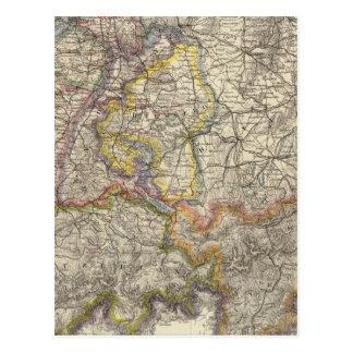 Alemania y Suiza Tarjeta Postal
