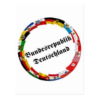 Alemania y sus Lander que agitan banderas Postales