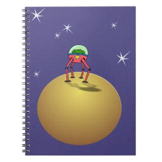 Alen Brain in Spacesuit on planet Notebook