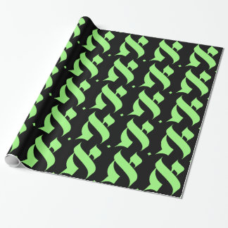 ALEPH 7 MONOGRAM WRAPPING PAPER