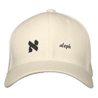 Aleph - alfabeto hebreo adaptable gorro bordado