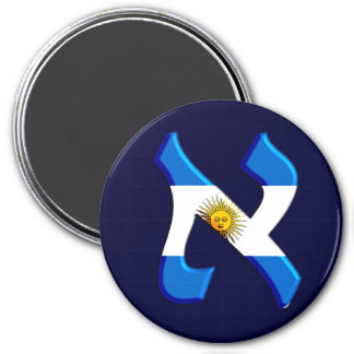 Aleph Argentia.png 3 Inch Round Magnet