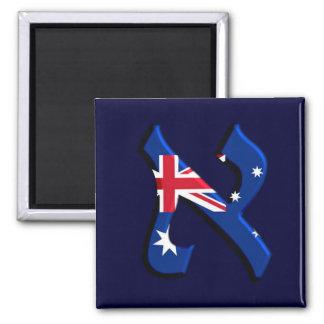 Aleph Australia.png 2 Inch Square Magnet