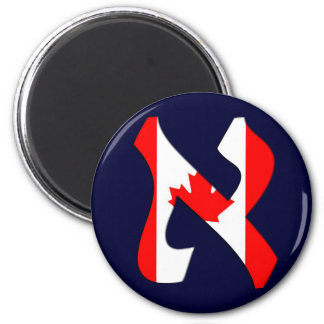 Aleph Canada.png 2 Inch Round Magnet